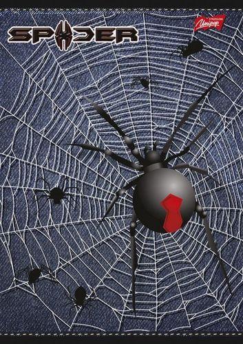 Unipap Zeszyt A5/32k Krata Spider Granatowy - Unipap uniwersalny