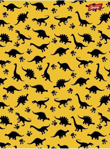 Unipap Zeszyt A5 16k krata Unipap żółte dinozaury uniwersalny