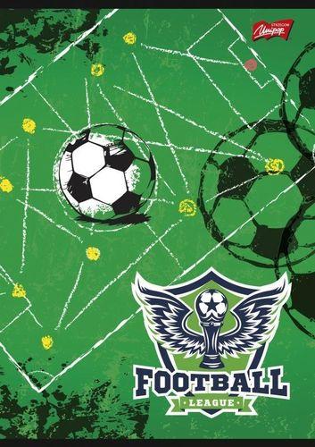 Unipap Zeszyt A5 16k krata Unipap Football League Zielony uniwersalny