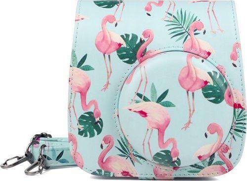 Pokrowiec LoveInstant Futerał Etui Pokrowiec Do Fujifilm Instax Mini 9 8 - Flamingi Mint