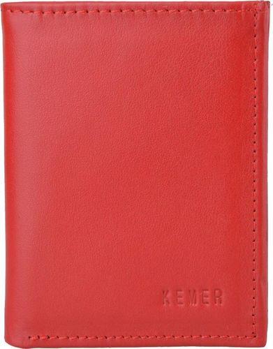 Kemer Etui na wizytówki / karty skórzane KEMER M1 Czerwony uniwersalny
