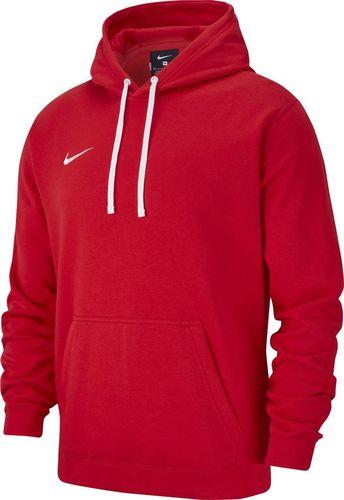 Nike Bluza męska Team Club 19 Fleece Hoodie Po czerwona r. S (AR3239 657)