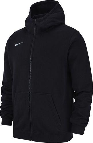 Nike Bluza dziecięca Team Club 19 Full-Zip Fleece Hoodie czarna r. 122 (AJ1458 010)