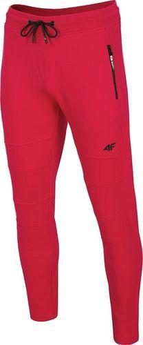 4f Spodnie męskie H4Z19-SPMD072 czerwone r. L