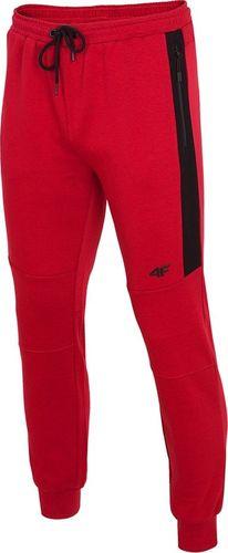4f Spodnie męskie H4Z19-SPMD070 czerwone r. L