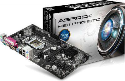 Płyta główna ASRock H81 PRO BTC s1150 H81 2DDR3 USB3/6CH ATX - H81 PRO BTC
