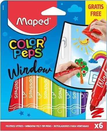 Maped Flamastry do szyb Colorpeps Window 5 kolorów MAPED