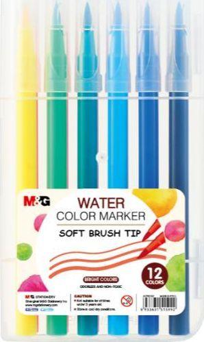 M&G Pisaki artystyczne pędzelkowe 12 kolorów M&G