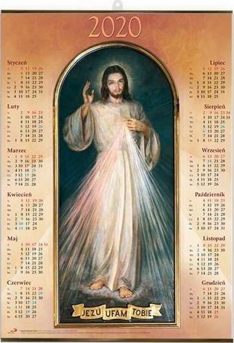 Edycja Świętego Pawła Kalendarz 2020 Plakatowy średni - Jezus Miłosierny