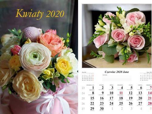Radwan Kalendarz 2020 Kwiaty 7 planszowy RADWAN