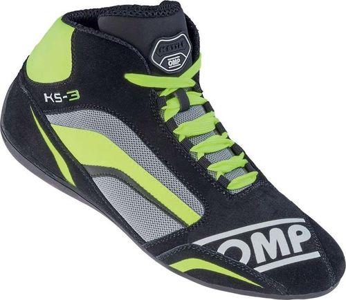 OMP Racing Buty kartingowe OMP KS-3 MY19 szaro- żółte 44