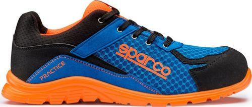 Sparco Buty unisex Practice niebiesko-pomarańczowe r. 47