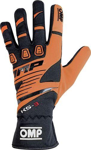 OMP Racing Rękawice OMP KS-3 MY18 czarno-pomarańczowe XL