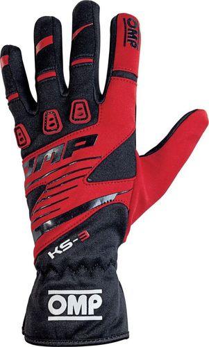 OMP Racing Rękawice OMP KS-3 MY18 czarno-czerwone XXS