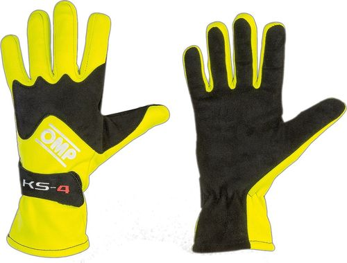 OMP Racing Rękawice OMP KS-4 żółte 4