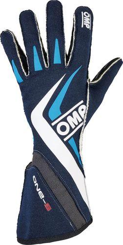 OMP Racing Rękawice rajdowe OMP ONE-S MY16 niebieskie (homologacja FIA) S