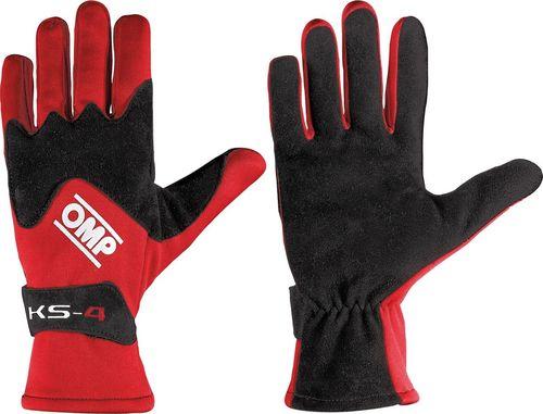 OMP Racing Rękawice OMP KS-4 czerwone XXS