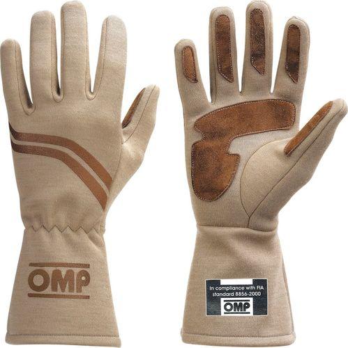 OMP Racing Rękawice rajdowe OMP DIJON ecru (homologacja FIA) XL