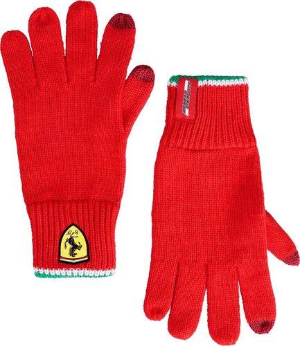 Scuderia Ferrari F1 Team Rękawiczki zimowe Knitted czerwone Scuderia Ferrari 2019 uniwersalny