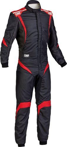 OMP Racing Kombinezon OMP ONE S-1 czarno/czerwony (homologacja FIA) 48