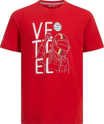 Scuderia Ferrari F1 Team Koszulka chłopięca czerwona Vettel Fan r. 164 cm
