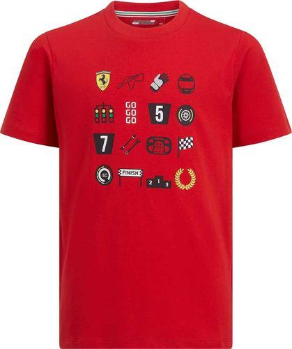 Scuderia Ferrari F1 Team Koszulka chłopięca Graphic czerwona r. 128 cm