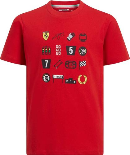 Scuderia Ferrari F1 Team Koszulka chłopięca Graphic czerwona r. 104 cm