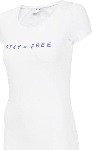 4f Koszulka damska H4Z19-TSD004 biała r. XL