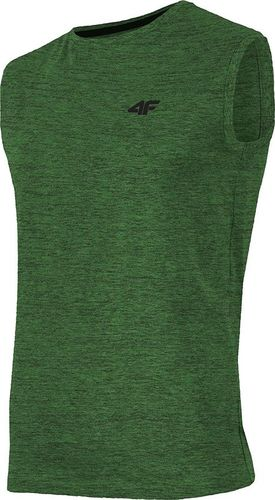 4f Koszulka męska H4L19-TSM001 zielona r. S