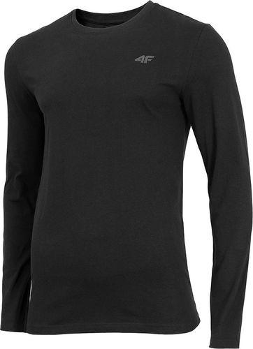 4f Koszulka męska H4Z19-TSML001 czarna r. S