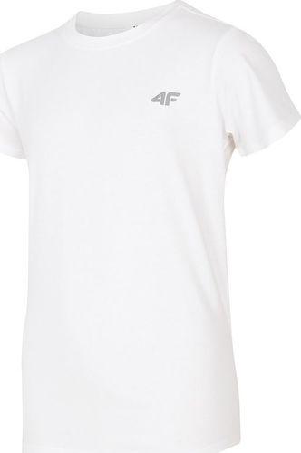 4f T-Shirt 4F HJZ19-JTSM005 10S HJZ19-JTSM005 10S biały 122 cm