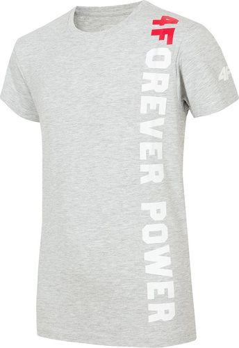 4f T-Shirt 4F HJZ19-JTSM008 27M HJZ19-JTSM008 27M szary 140 cm