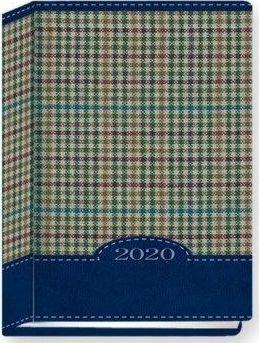 Edycja Świętego Pawła Terminarz 2020 B7 Kolorowy kratka niebieska