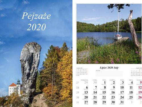 Radwan Kalendarz 2020 Pejzaże 13 planszowy RADWAN