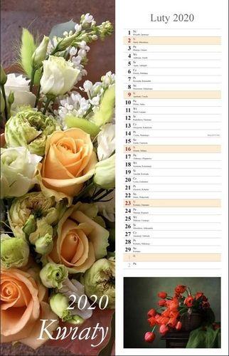 Radwan Kalendarz 2020 Kwiaty 13 planszowy 15x48 RADWAN