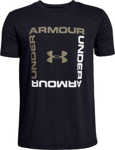 Under Armour Koszulka dziecięca Box Logo Boys czarna r. 140 (1329099-001)