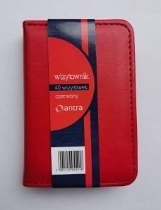 ANTRA Wizytownik 40 jednoklatkowy czerwony