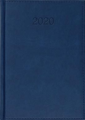 CRUX Kalendarz 2020 Książkowy A5 dzienny Vivo granat