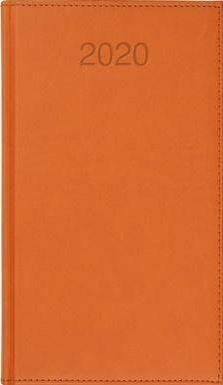 CRUX Kalendarz 2020 Książkowy A6 tygodn. Vivo pomarańcz