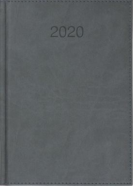 CRUX Kalendarz 2020 Książkowy A5 dzienny Vivo szary