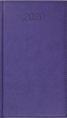 CRUX Kalendarz 2020 Książkowy A6 tygodn. Vivo fioletowy