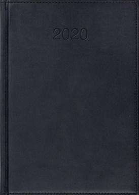 CRUX Kalendarz 2020 Książkowy A5 dzienny Vivo czarny