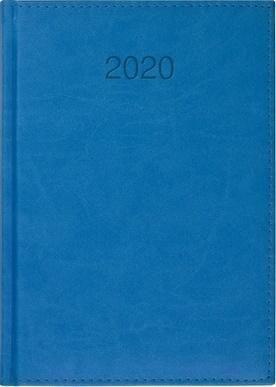CRUX Kalendarz 2020 Książkowy A5 dzienny Vivo niebieski