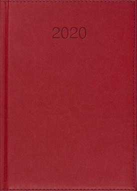 CRUX Kalendarz 2020 Książkowy A5 dzienny Vivo czerwony