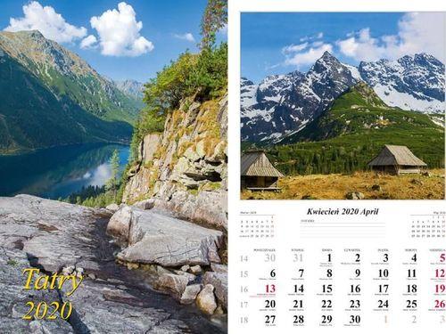 Radwan Kalendarz 2020 Tatry 13 planszowy RADWAN
