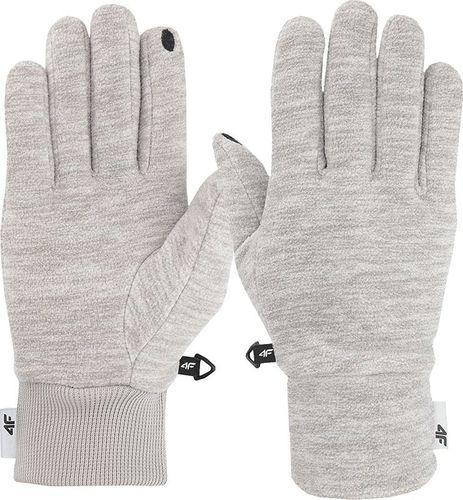 4f Rękawiczki sportowe H4Z19-REU061 szare r. S