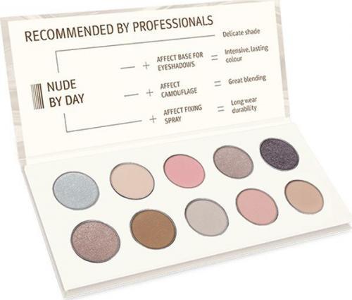 Affect Cienie do powiek Nude By Day Pressed Eyeshadow Palette 10x2-2.5g