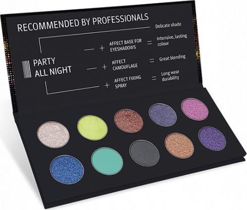 Affect Cienie do powiek Party All Night Pressed Eyeshadow Palette 10x2g