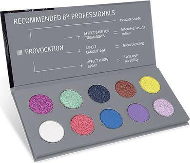 Affect Cienie do powiek Provocation Pressed Eyeshadow Palette 10x2-2.5g