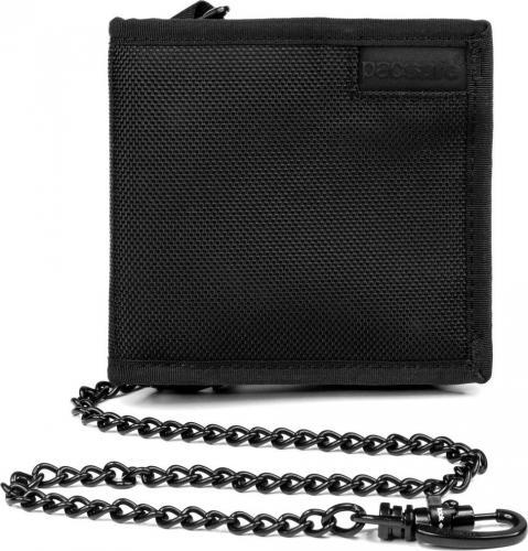 Pacsafe Portfel antykradzieżowy bifold wallet Black (Z100)